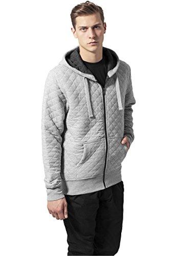 Urban Classics Diamond Quilt Zip Hoody Felpa jogging grigio XL