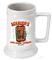 Personalized 16 oz. Tiki Lounge Beer Stein (Set of 6)