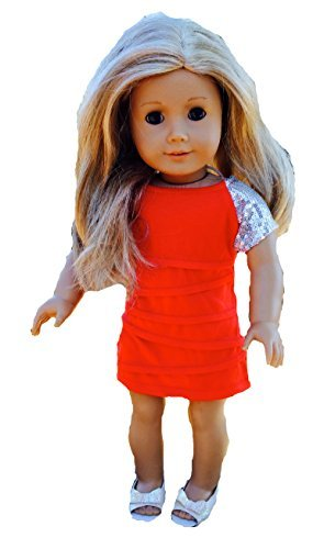 "Sparkly Red Dress up for 18"" Doll"