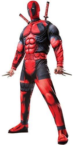 Uomo ufficiale di Deadpool della Marvel con Super eroi dei fumetti Costume Halloween Costume STD XL rosso 24 mesi