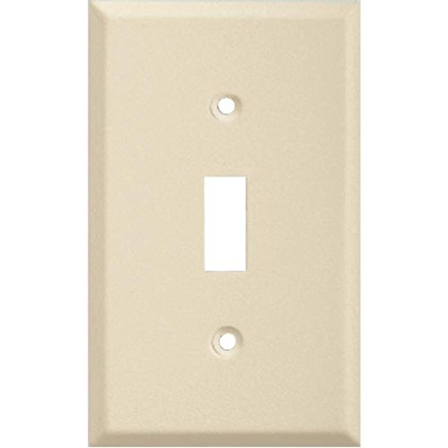 Pro-Ivory Steel Wrinkle Switch Wall Plate-IV SWITCH WALL PLATE