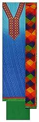 Punjaban Boutique Women's Cotton Unstitched Dress Material (Blue and Green)