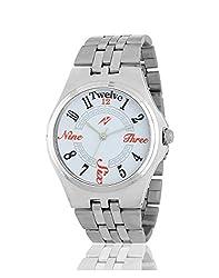 Yepme Men's Chain Watch - White/Silver -- YPMWATCH3185