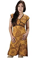WOMAN HALF SLEEVE SUMMER DRESS WITH BACK TIE DESIGN - LADIES GODAVARI