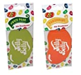 AoE Performance Jelly Belly Bean Car Air Freshener Duo Gift Pack 2D Tangerine And Juicy Pear