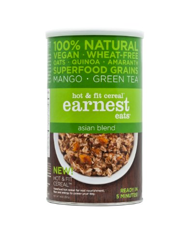 Earnest Eats Vegan Hot Cereal With Superfood Grains, Quinoa, Oats And Amaranth - Asia Blend - (14 Oz)