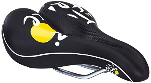 Tour de France 250332 Wide Channel-F Bike Saddle Black