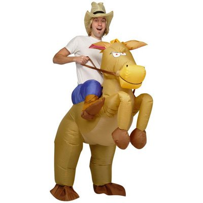 Inflatable Horse and Cowboy Fancy Costume Dress Suit