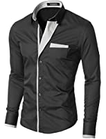MODERNO Slim Fit Mode Chemise Homme Manches Longues (VGDS41LS)