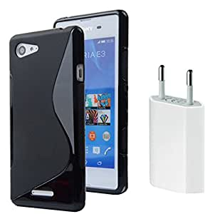 Sony Xperia E3 Anti-Shock Proof High Quality TPU Material Back Case Cover with USB CHARGER (Combo Offer Pack of USB Charger and Back Cover)