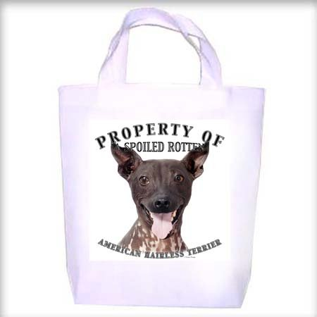 American Hairless Terrier Property Shopping - Dog Toy - Tote Bag