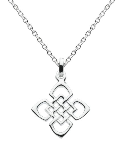 Heritage Silver Plated Celtic Square Knots Necklace SP92810HP009
