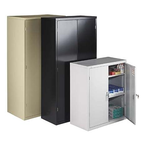 "o HON Company o - Storage Cabinet, 2 Shelves, 36""x18-1/4""x41-1/4"", Black"