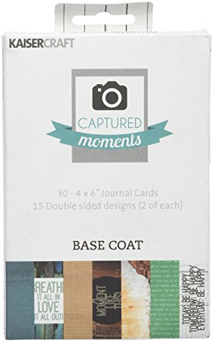 kaisercraft-paper-captured-moments-double-sided-cards-6-inch-x-4-inch-30-basecoat