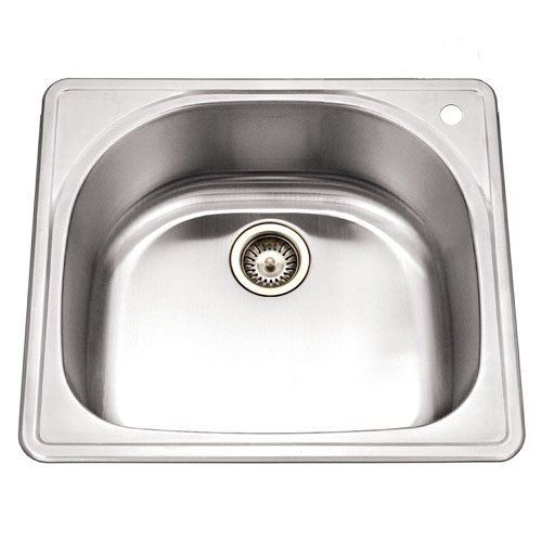 Houzer PMS-2522-1 Premiere 25-by-22-Inch Single Bowl Drop-In Stainless Steel Kitchen Sink