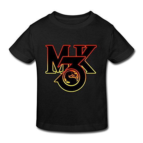 KAKuBA Mortal Kombat Fighting Game Toddler Shirts Printing Tops Funny T Shirts Black