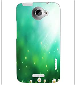 PrintDhaba Pattern D-2201 Back Case Cover for HTC ONE X (Multi-Coloured)