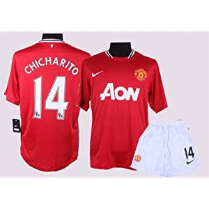 MANCHESTER UNITED 2011   2012 HOME JERSEY CHICHARITO SHIRT + SHORTS SIZE S 60f6c478c