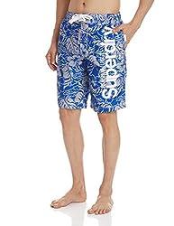 Superdry Men's Synthetic Shorts (5054265254468_M30MP021F4_Medium_Voltage Blue Banana Leaf)