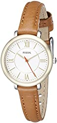 Fossil Women's ES3801 Jacqueline Stainless Steel Watch with Narrow Brown Band