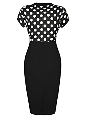 Miusol® Women's Sweat Heart-Neck Polka Dot Optical Illusion Bodycon Dress