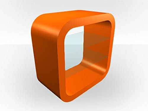 Cube TV Media Unit - Orange Gloss
