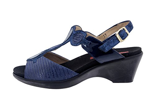 Scarpe donna comfort pelle Piesanto 6857 sandali soletta estraibile comfort larghezza speciale