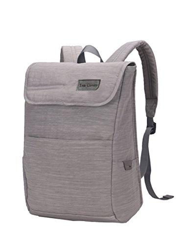 Tom Clovers Nylon Laptop Backpack Rucksack Knapsack Bag 15.6-Inch-Gray