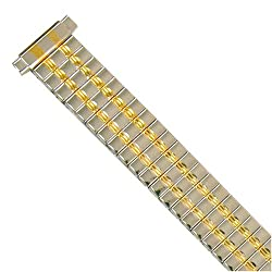Watch Band Expansion Ladies Two Tone Gold and Silver fits 10mm to 12mm