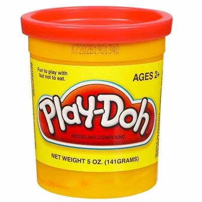 PLAY-DOH PlayDoh Compound Bright RED Single 5 oz Can 23870 - 1