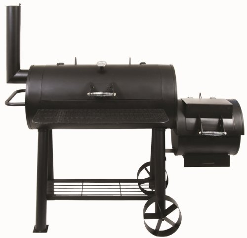 El Fuego® Holzkohlegrill/Smoker Huyana, Schwarz, 169x139x66 cm