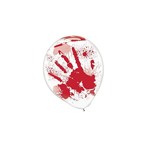 Asylum Printed Latex Balloons Pack of 6 - 1