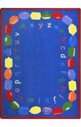 "Joy Carpets Kid Essentials Early Childhood Baby Beads Rug, Multicolored, 5'4"" x 7'8"""
