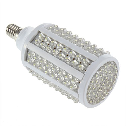 10W 166Led Pure White Led Corn Light Lighting Bulb E14 360° 220V Lamp Hs