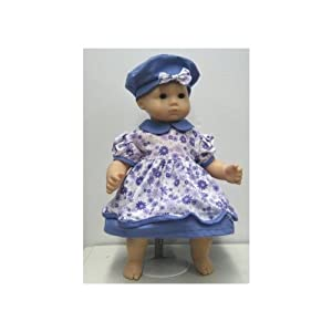 Lavendar Dress with Matching Hat for Bitty Twins