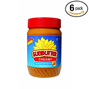 SunButter Creamy Sunflower Seed Spread, 16-Ounce Plastic Jars (Pack of 6)