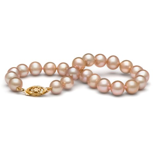 14k Freshwater Cultured Pearl Bracelet AA+ Quality 7.0-8.0 mm 7.5