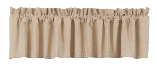 Ihf Window Curtain Valance Au Natural Solid Design 100% Pure Cotton 72 X 14 Inches Valances Curtains front-542306