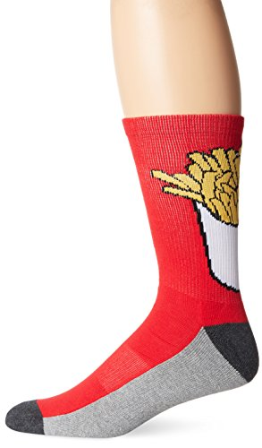 KurB Men's Fries Crew Sock, Red, 10-13/Shoe Size 6-12 (Fry Boots Red compare prices)