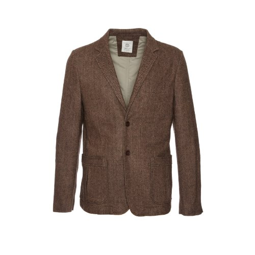 Selected Hommes - Brixton Brown Tweed Fitted Mens Blazer Size Large