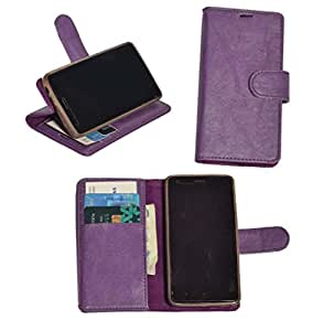 R&A Pu Leather Wallet Flip Case Cover With Card & ID Slots & Magnetic Closure For Coolpad Note 3