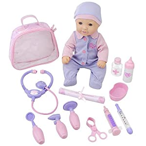 You & Me Get Well Baby Doll & Medical Kit