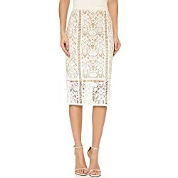 Bailey 44 Women's Silver Springs Lace Pencil Skirt