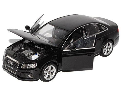 audi-a4-b8-schwarz-limousine-ab-2007-1-24-welly-modell-auto-mit-individiuellem-wunschkennzeichen