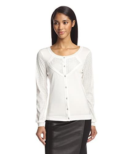 Zelda Women's Cardigan with Faux Leather