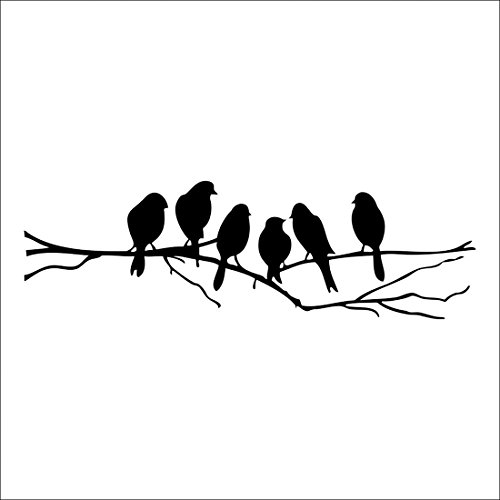 Wall stickers Decal Removable Black Bird Tree Branch Art Home Mural Decor (Removable Wall Stickers compare prices)