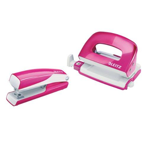Esselte-Leitz-55612023-Nexxt-Series-WOW-Set-Mini-Locher-Heftgert-Metall-pink-metallic