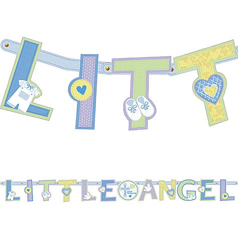 Personalize It Wall Christening Banner Party Decoration