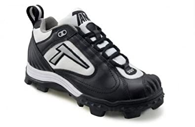 Buy Tanel 360° REV-D Low Cut Cleat With Pitchers Toe. Girls Ladies. Black, White & Silver.... by Tanel 360
