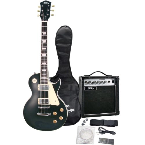 Pyle-Pro PGEKT45BK Professional 42'' Beginner Electric Guitar Package Black Color